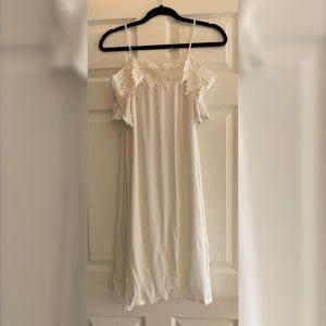 boutique rayon white dress